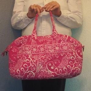 Vera Bradley Quilted Cotton Weekender/Diaper Bag